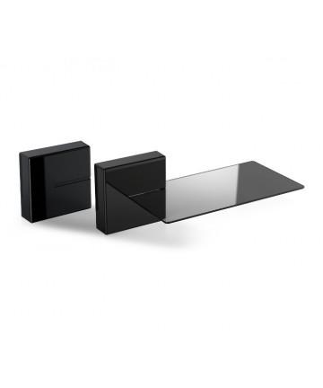 Meliconi Ghost Cubes COVER Shelf - Półka ścienna z serii Ghost, czarna max. 3kg