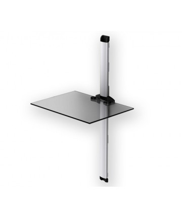 PLASMA PL2610 SILVER - Panel z 1 półką pod sprzęt, 89cm