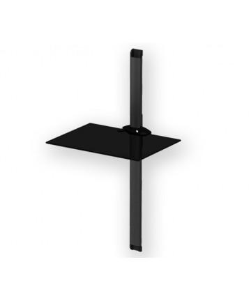 PLASMA PL2610 BLACK - Panel z 1 półką pod sprzęt, 89cm