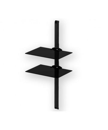PLASMA PL2620 BLACK - Panel z 2 półkami pod sprzęt, 111 cm