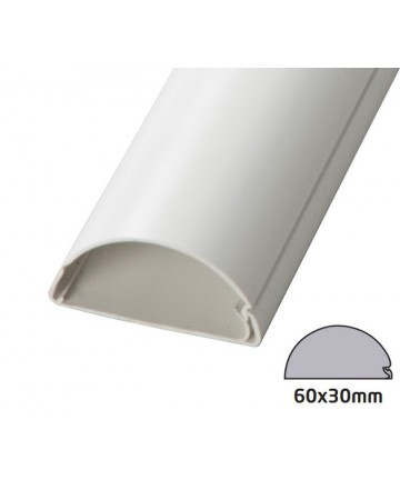 D-Line 6030W - Maskownica kabli / kanał kablowy 200 cm biała