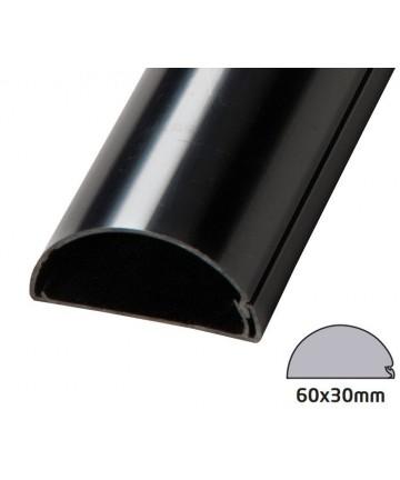 D-Line 6030B - Maskownica kabli / kanał kablowy 100 cm czarna