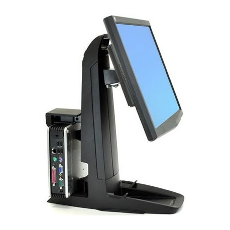 Ergotron 33-338-085 Neo-Flex All-In-One Lift and Pivot Stand - Zestaw biurkowy do montażu ekranu oraz komputera