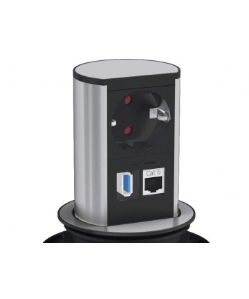 Bachmann ELEVATOR 005 - Listwa zasilająca z USB oraz RJ45.