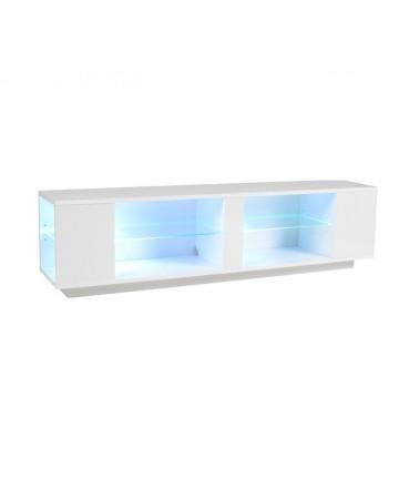 Aflamo ELVA - Szafka pod telewizor, biała z oświetleniem LED
