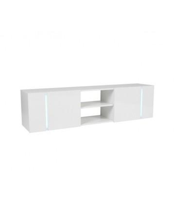 Aflamo KEO - Szafka pod telewizor, biała z oświetleniem LED