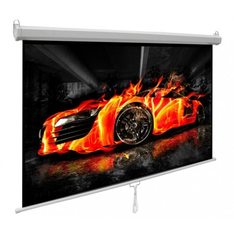 Optika - ekran projekcyjny ręcznie rozwijany 200x200