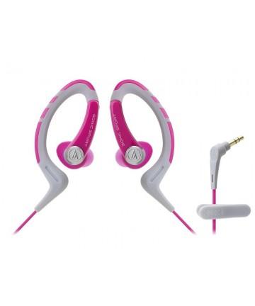 Audio-Technica ATH-SPORT1 - słuchawki douszne, różowo-szare