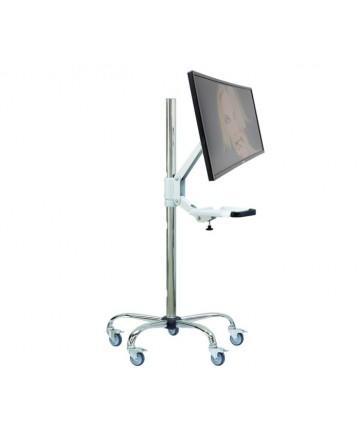 Edbak SV55 - Stojak do monitora LCD na kółkach, wys. 127cm