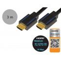 LogiLink CHB005 - Certyfikowany kabel HDMI 2.0, 4K, 18Gb, 3 metry
