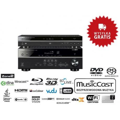 Yamaha RX-V685 + BD-S681 - Zestaw: amplituner AV + odtwarzacz Blu-Ray, wysyłka 0zł