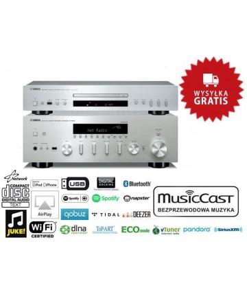 Yamaha R-N602 + CD-S300 tytan - Zestaw: amplituner stereo + odtwarzacz CD, wysyłka 0zł.