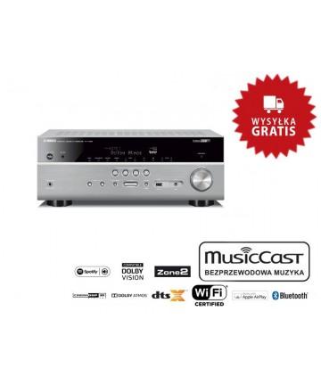 RX-V685 tytan - Amplituner AV z Dolby Atmos, DTS:X, 2xHDMI, złączem gramofonowym, Bluetooth, wysyłka 0zł