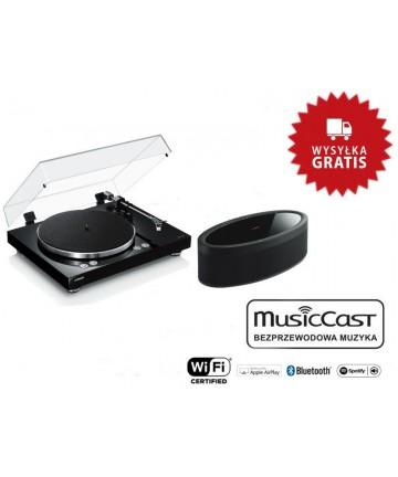 Yamaha VINYL 500 + MusicCast 50 black - Gramofon + głośnik bezprzewodowy, wysyłka 0zł