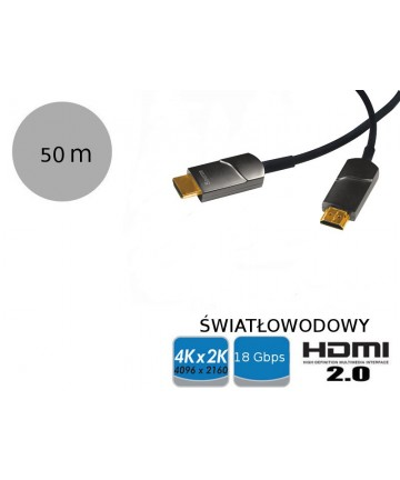 LogiLink CH1050 - Światłowodowy kabel HDMI AOC, długość 50 metrów