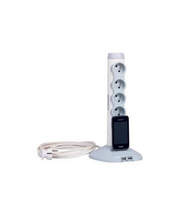 Legrand 50014 - Listwa zasilająca z USB, przedłużacz pionowy