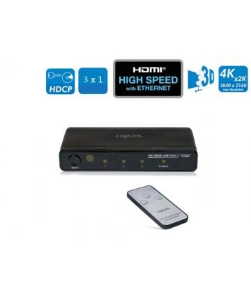 LogiLink HD0012 - Switch HDMI 3 do 1. Trzy nadajniki do jednego odbiornika. Pilot