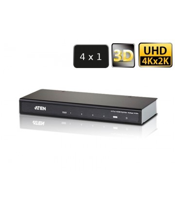 Aten VS184A-AT-G - Splitter, aktywny rozdzielacz sygnału HDMI, 4 porty