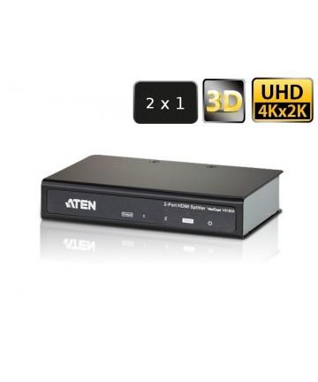 Aten VS182A-AT-G - Splitter, aktywny rozdzielacz sygnału HDMI, 2 porty