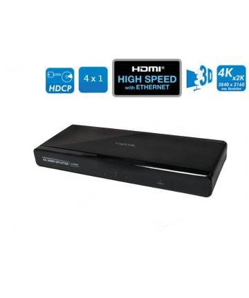 LogiLink CV0092 - Splitter, aktywny rozdzielacz sygnału HDMI, 4 porty
