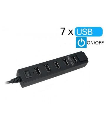 LogiLink UA0124 - Hub 7-portowy USB 2.0
