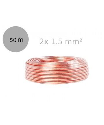 LogiLink CA1085 - Kabel głośnikowy 2x1,5 mm², długość 50 metrów