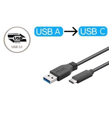 MicoConnect USB3.1CA0015 - Kabel przejściówka USB-A na USB-C, długość 20 cm