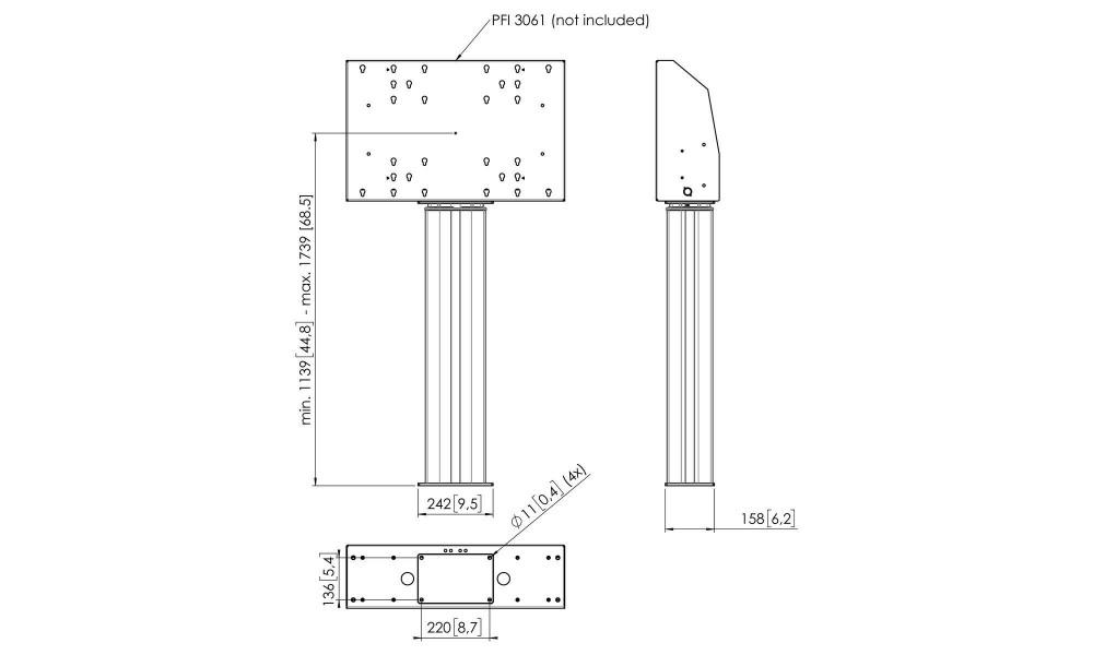 vogel-s-mf06-stojak-z-elektryczna-regula