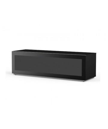 Meliconi MyTV 16050F - Szafka RTV z drzwiczkami przepuszczającymi sygnał pilota, czarna