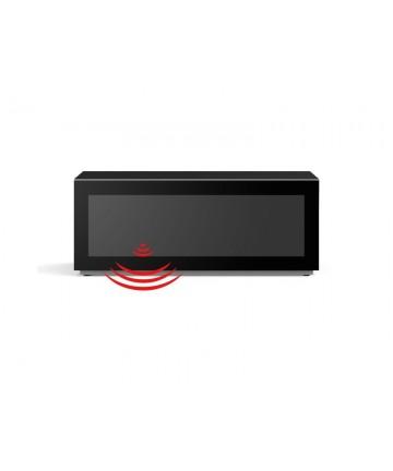 Meliconi MyTV 12050F - Szafka RTV z drzwiczkami przepuszczającymi sygnał pilota, czarna