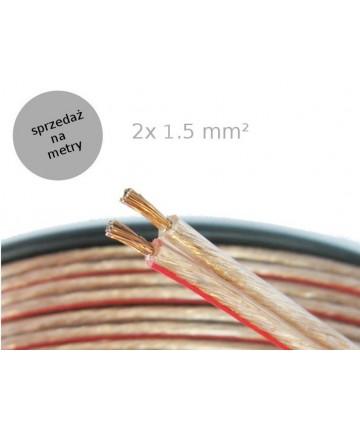Art GL-01 - Kabel głośnikowy 2x1,5 mm², sprzedaż na metry