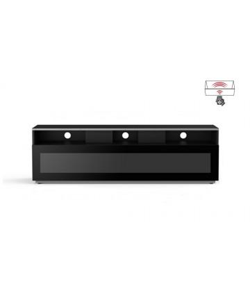 Meliconi MyTV 16040H - Szafka RTV z drzwiczkami przepuszczającymi sygnał pilota, czarna