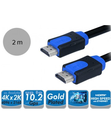 LogiLink CHB1102 - Kabel HDMI 1.4, 2K4K, 10Gb, 2 metry