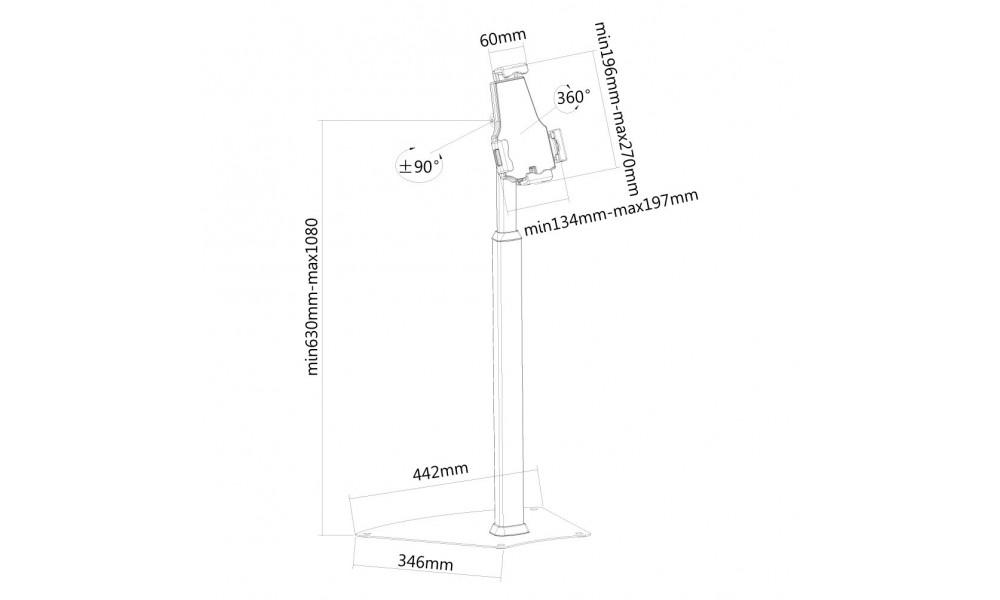 newstar-tablet-s200silver-stojak-podlogo