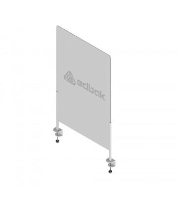 Edbak PLEXI75/KL - Osłona zabezpieczająca z pleksi 75x50cm, mocowanie na klamrę