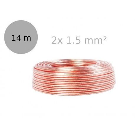 LXK613 - Kabel głośnikowy OFC, 2x1.5 mm²