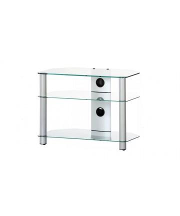 NEO370C-SLV - Stolik na sprzęt RTV, szkło bezbarwne, 70 cm