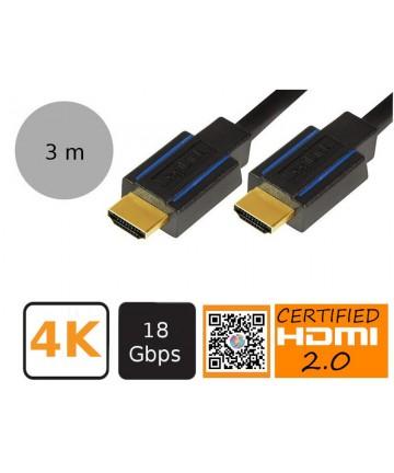 LogLink CHB005 - Kabel HDMi PREMIUM, długość 3 metry