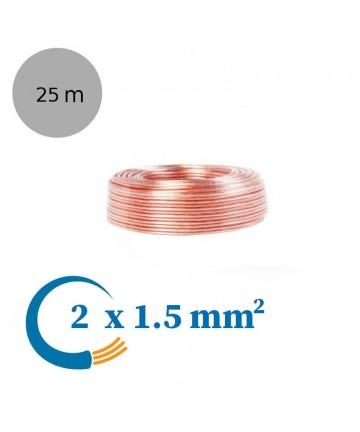 LogiLink CA1080 - Kabel głośnikowy 2x1,5 mm2, długość 25 metrów