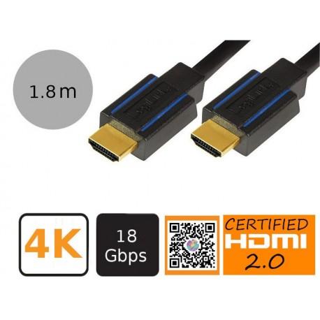 LogiLink CHB004 - Certyfikowany kabel HDMI Premium