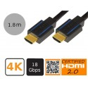 LogiLink CHB004 - Certyfikowany kabel HDMI 2.0, 4K, 18Gb, 1.8 metra