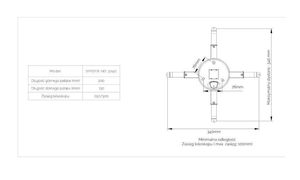 suprema-spider-hd-3040-uchwyt-do-projekt