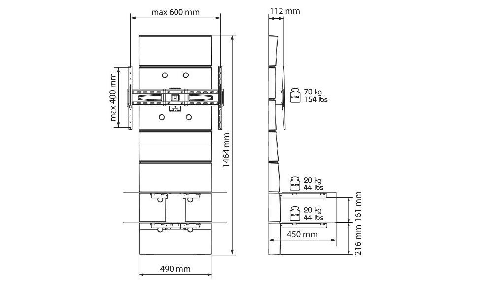 meliconi ghost design 3000 bianco panel cienny wys. Black Bedroom Furniture Sets. Home Design Ideas