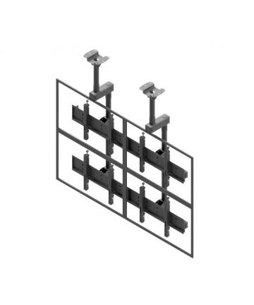 """Edbak VWCA22-L Uchwyt sufitowy do wideo ściany 2x2 do TV 40-57"""", układ poziomy"""