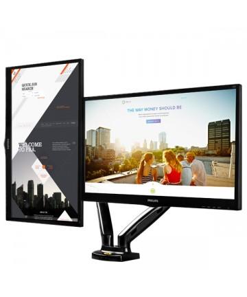 """North Bayou F160 - Uchwyt biurkowy do 2 monitorów 17-27"""" max. 6,5kg"""