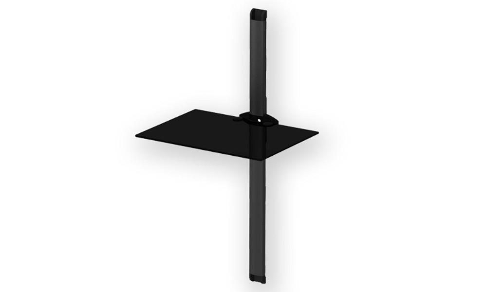 Sonorous Pl2610 Black Półka ścienna Rtv Z Aluminiowym Panelem Długości 89cm