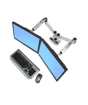 Ergotron LX DUAL ARM - Uchwyt biurkowy do 2 monitorów komputerowych