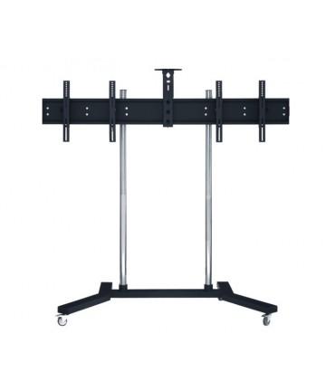 """Edbak TR14 - Stojak podłogowy na 2 x 40-47"""" max. 80kg Videokonferencyjny"""