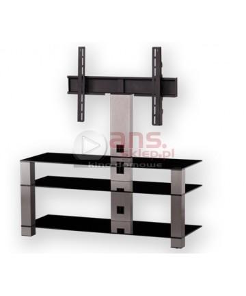 PLASMA PL2430B-SLV - Stolik rtv z uchwytem do LCD, 37-50 cali, INOX + czarne szkło