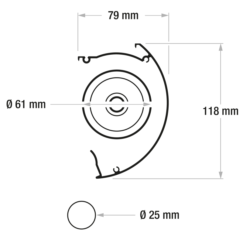 Adeo Linear - wymiary kasety
